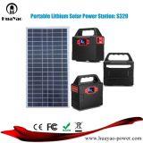 Inicio Sistema de energía solar portátil para uso doméstico ligero generador solar con un panel solar