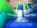 Blaues Grün-aufblasbares Plättchen mit Luftsack-Sprung (CHSL415)