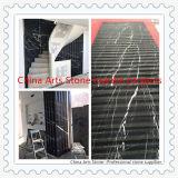 자전 단계 벽을%s 중국 Nero Marquina 까만 대리석 도와