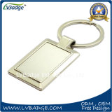 Corrente chave em branco de liga de zinco com logotipo personalizado