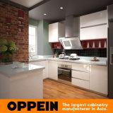 Asia Proyecto Blanca U Shape Laca del gabinete de cocina (OP15-L08)