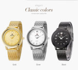 Belbi Batterie der LuxuxEdelstahl-wasserdichte Quarz-Dame-Analog Wristwatch Japan der Bewegungs-Accell/377A hergestellt im China-Farben-Gold, Schwarzes, Silber für Sie