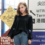 Neue Entwurfs-Leerzeichen-Pullover-Art-Frauen, die Muster-Hieb-Hülsen-Strickjacke stricken