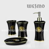 Coordinate del bagno della porcellana con la decalcomania dorata (WBC0607B)