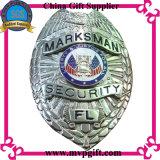 La polizia del metallo Badge con il supporto del raccoglitore