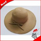 Sombrero ancho de Sun del borde de la paja de papel