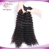 Волосы бразильянина девственницы Weave человеческих волос цвета глубокой волны естественные