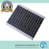 Quadratische modularer Plastikriemen der Friktions-Gummioberseiten-1400