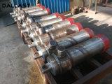 Únicos cilindros telescópicos ativos do petróleo hidráulico da grua do reboque do caminhão de descarga