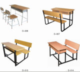 Mesa da escola do metal da escola e jogo baratos de madeira da cadeira