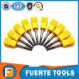El husillo espiral flauta recta fresadoras para el cobre/Corte de hierro