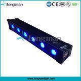 전문가 6*12W Rgbawuv 6in1 LED 무선 DMX 벽 세탁기