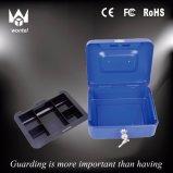 Heißer Verkaufs-beweglicher Metallbargeld-Kasten mit entfernbarem Plastiktellersegment