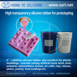 40 translúcidos Shore um Rapid Prototyping Silicone Rubber com Low Shrinkage