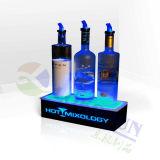 Affichage acrylique d'alimentation en usine pour le vin avec éclairage à LED RVB