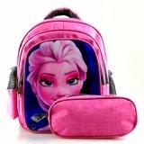 Novo Design frontal Customzed chegam à prova de sacos de mochila Escolar de alunos primária definida
