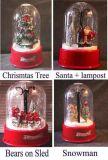 De duidelijke Scène van Kerstmis van de Koepel Muzikale Sneeuwende (01-1235)