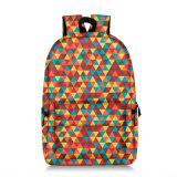 Moda impressão geométrica escola itinerante mochilas casual para adolescentes