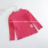 純粋なカラー円形カラーすべてマッチの女の子の底を付けるTシャツ