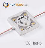 Inyección de 1W 2SMD 2835 Módulo LED chip con lente de 170 grados de protección IP68