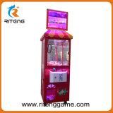 Máquina de la grúa de la garra del empujador de la moneda para la alameda de compras