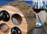 自然な吠え声のホーム家具が付いている木製のカウンタートップのワインラック