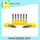 Size padrão Tungsten Carbide Ball Nose Endmill para Copper Milling