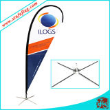 屋外の羽のフラグの旗を広告する100%年のポリエステル習慣