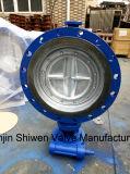 Крепко/клапан-бабочка триппеля уплотнения металла ексцентрическая/смещенная с шестерней