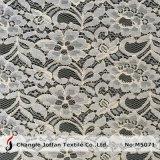 Tissu de coton blanc dentelle florale pour vêtement (M5071)