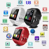 Multilanguages U8の最も安いBluetoothのスマートな腕時計の電話
