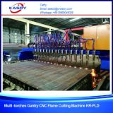 Tagliatrice di alluminio della fiamma o del gas del plasma di CNC dello strato del metallo del cavalletto