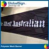Super bannière de maille en polyester résistant Bâtiment Clôture signer