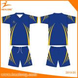 Healongのスポーツ・ウェアの染料の昇華サッカーの審判員のワイシャツ