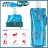 Дешевые перемещения портативные изготовленный на заказ складывают вверх пластичную бутылку воды спорта