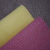 Korbgeflecht Patterm strukturiertes künstliches PU-Leder für Beutel-Schuhe