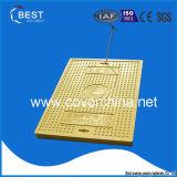 coperchio di botola rettangolare giallo 500X700