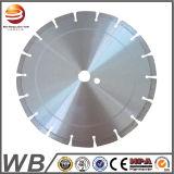 Disco de corte de hormigón de soldadura láser de la hoja de sierra de diamante para asfalto