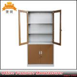 La moda Armario de almacenamiento de la puerta de vidrio de metal