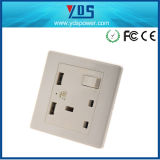 3 Pin Briten elektrisches Socket, BRITISCHER Wall Electric USB Socket Outlet