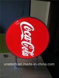 屋外の表示LED円形のSqaure楕円形の長方形のコカ・コーラの真空プラスチックアルミニウムフレームのライトボックス