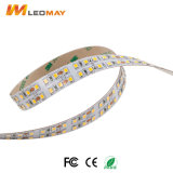 Haut de la lumière LED SMD2835 240/m DC12V, double rangée des bandes de LED