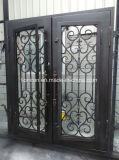 L-D047 magnífico Inicio Se utiliza hierro forjado Puertas de Seguridad