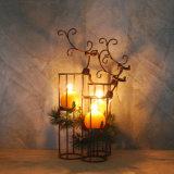Dekorativer Weihnachtsbaum-Metallkerze-Halter