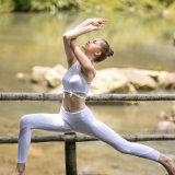 Cómoda malla suave blanco Yoga trajes de desgaste