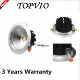 Mejor precio empotrado 10W / 15W / 20W / 30W COB LED Down luz
