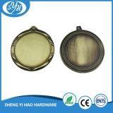La medaglia di filatura di metallo della pressofusione con la casella