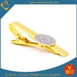 주문을 받아서 만들어진 제조자는 자신의 금속에 동점 바 커프스 단추 주문 로고를 가진 놓인 버스 비행기 아르고스 Mens 동점 클립의 명찰을 단