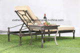 Mobilia esterna del sofà di comodità della fusion d'alluminio del salotto classico del Chaise