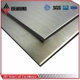 Revestimiento de aluminio aplicado con brocha plata de la pared de la fábrica ACP